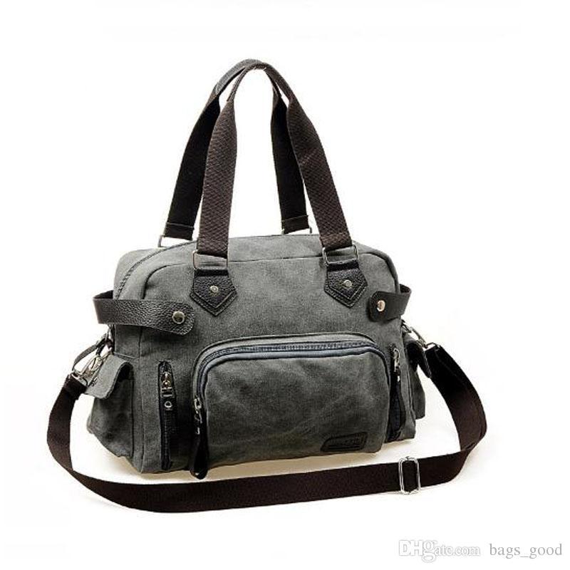 Novo ombro saco ocasional mensageiro saco de lona homem bolsa de viagem para o sexo masculino cinza khaki cor preta frete grátis