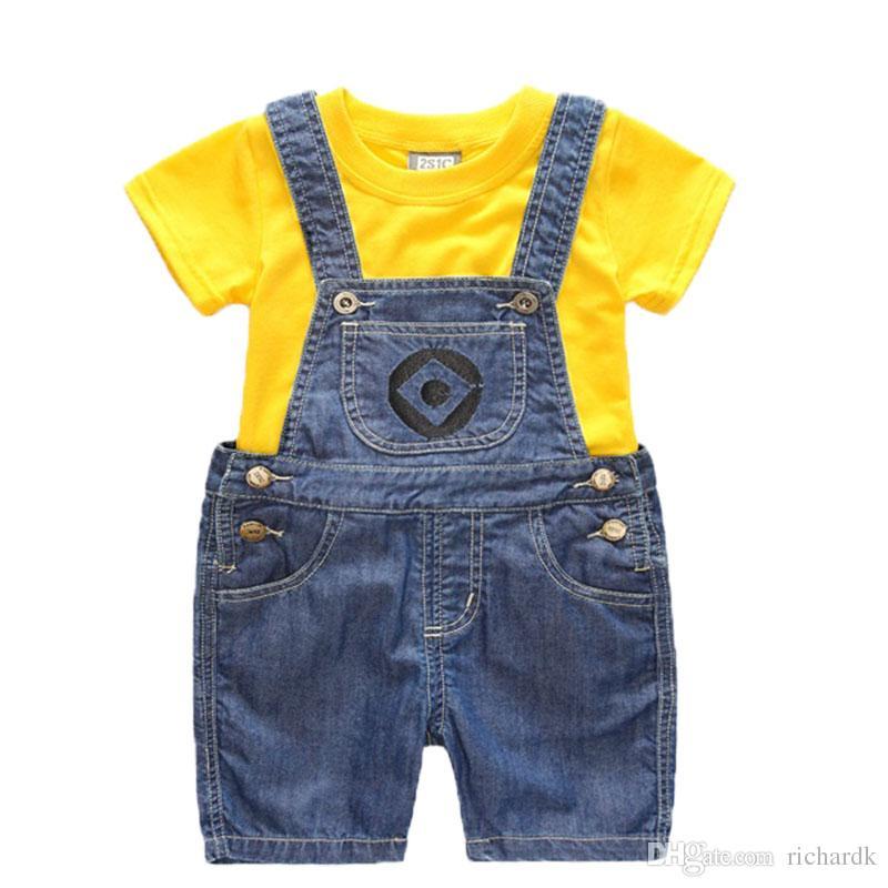 Le ragazze dei ragazzi hanno regolato i bicchierini dei bambini / vestito lungo dei capretti che coprono la maglietta e l'abbigliamento dei servi 1-6 anni