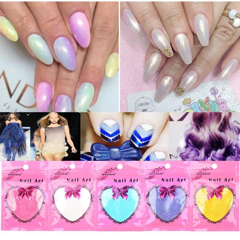 1 Bag Nail Art Glitter Powder 10g Pink White Gold Blue Nail Powder