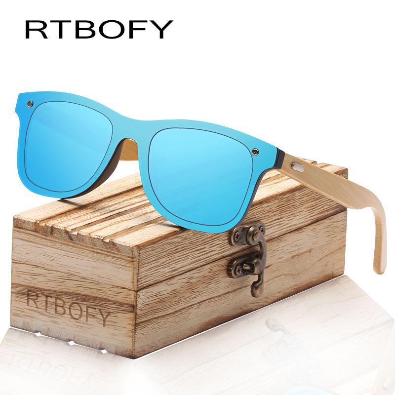 2db8a6adaa RTBOFY Wood Polarized Sunglasses For Women Men Bamboo Frame Glasses  Handmade Wooden Eyeglasses Unisex Shades Fashion With Free Gift Case John  Lennon ...
