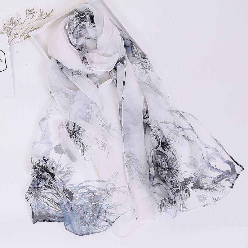 0807d13eb 2018 New Style Scarf Women,Georgette Scarf, Printed Scarf,Muslim  Hijab,Beach Towel,Ultrathin Silk,Headband And Shawl,Cape,FKR008 Bandana  Mask Bandana Shorts ...