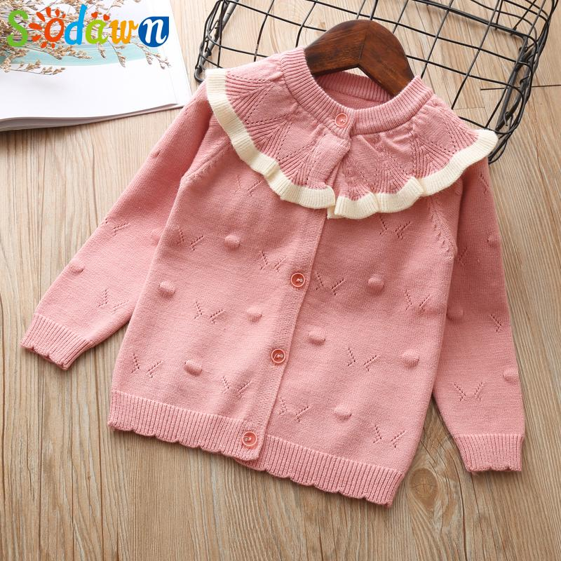 40a3605ba6acf Sodawn Children Clothes Girls Sweater Coat Lace Collar Sweater Cardigan Autumn  Winter Girls Clothes Fashion Children Easy Knitting Patterns For Childrens  ...