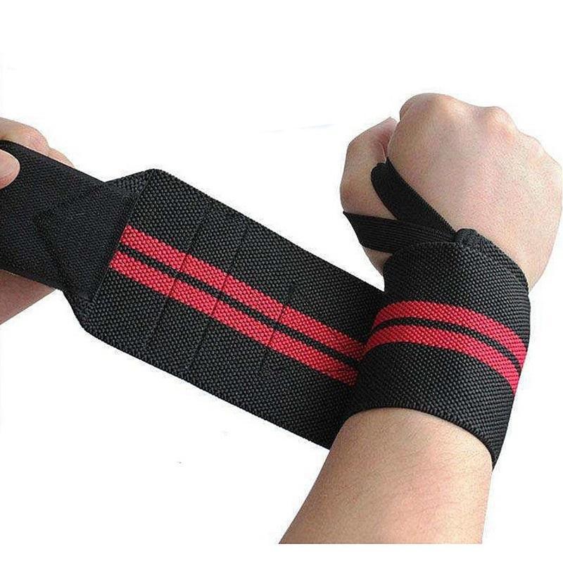 2 Pz lotto Fitness Wrist Wraps Cinturino Palestra Weightlifting Brace Manubri Bilanciere Supporto per il polso Protector L350