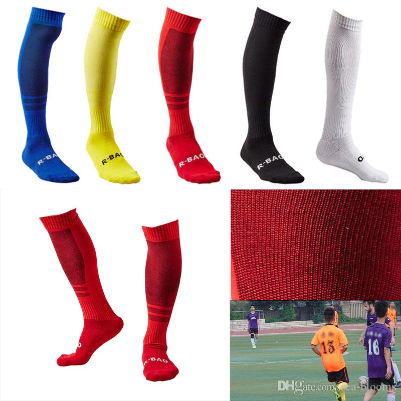 Men's Soccer Socks Long Sport Over Knee High Competition Training Soccer Socks Towel Bottom Stockings Support FBA Drop Shipping G491Q