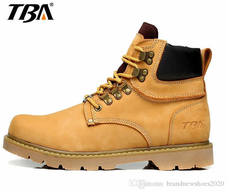Tba Man Snow Boot Mens Work Boots Round Toe Leather Insulated Construction Non  Slip Work Shoes High Top Work Safety Shoes Martin Boots Shoes For Sale  Cheap ... b0f54790d7fe