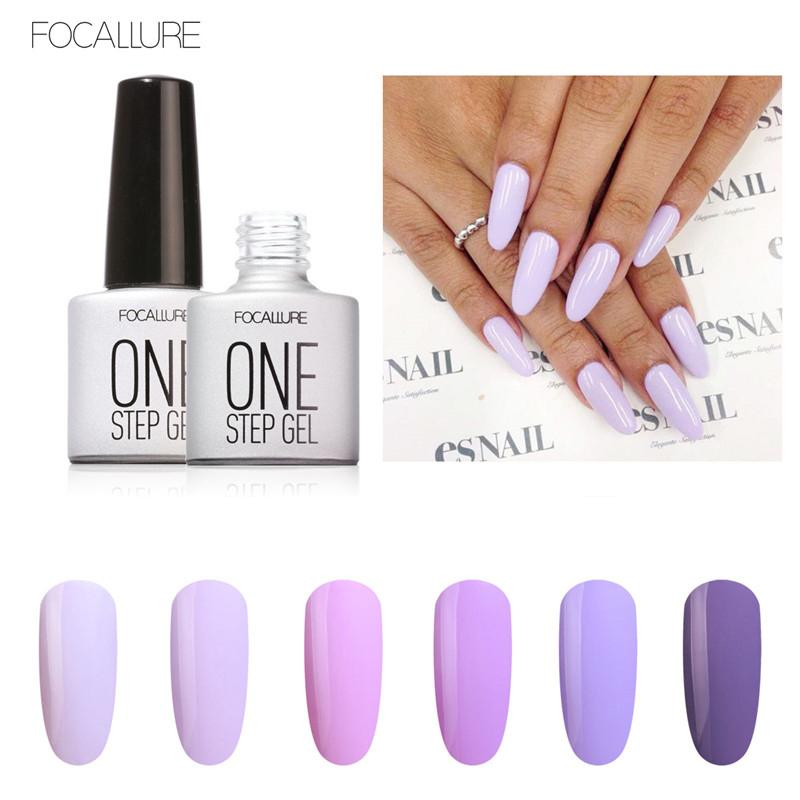 Professional New Fashion One Step Gel Nail Polish Pigments Purple ...