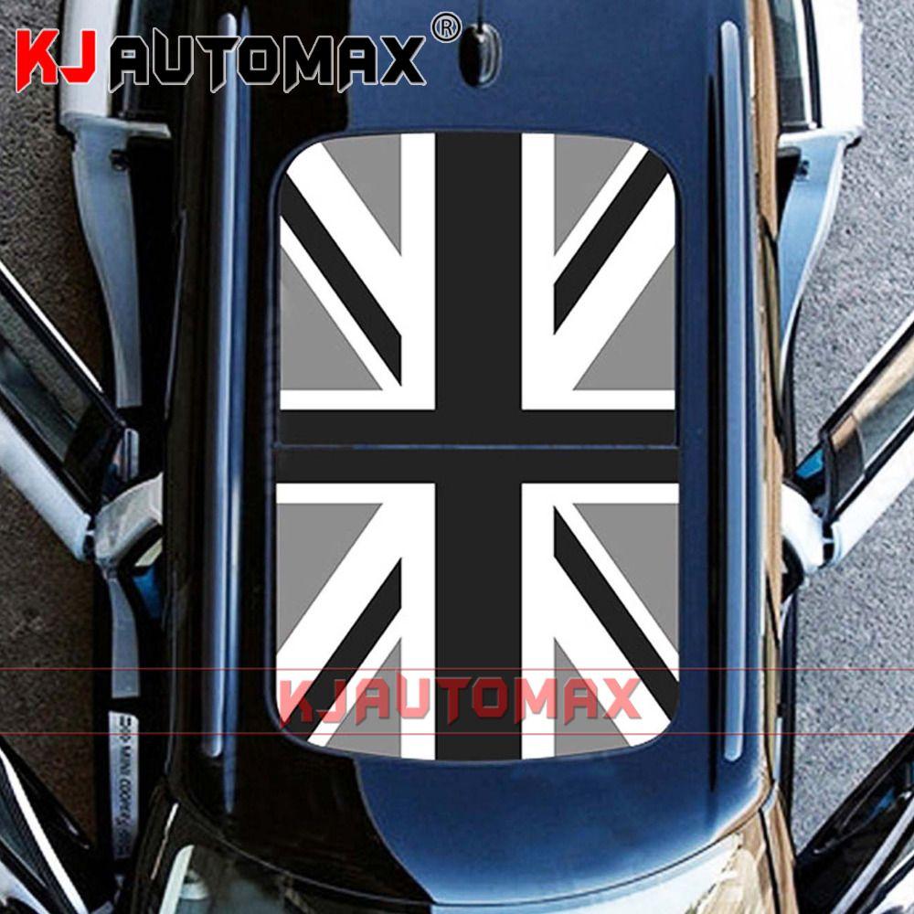 Para Mini Cooper Roof Decal Pegatina De Vinilo Perforado Sunroof Gray Jack R55 R56 R60 R61 F54 F55 F56 Countryman Accessories