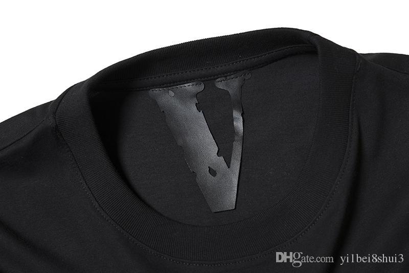 Vlone T-shirt hombres camiseta del cráneo harajuku camiseta rock hip hop patineta calle mujeres streetwear marca de ropa de algodón de verano camisetas tops 2019