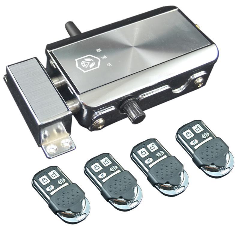 c9486a2a300b Intellisense Remote Control Electronic Door Lock Set Security Padlock Locks  Automatically Household Warded Lock