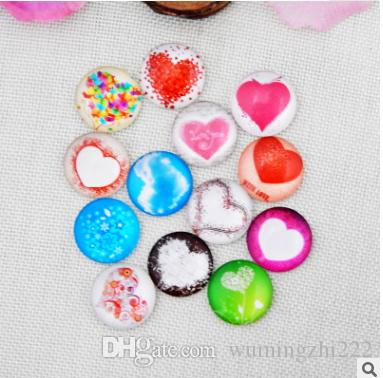 2018 HOT selling Loving pattern galss Snap button Charm Popper for Snap Jewelry picture pendant