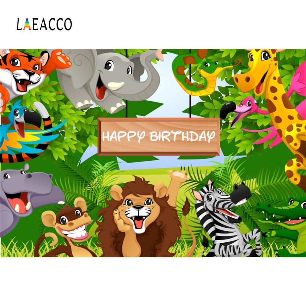 2018 Laeacco Jungle Safari Themed Birthday Party Baby