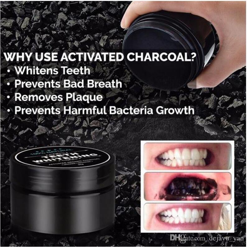 Diente Polvo Dentífrico Bambú Cuidado oral Higiene Limpieza natural activado carbón vegetal dientes de coco Mancha amarilla DHL gratis