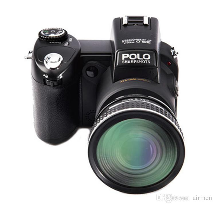 Protax/POLO D7200 Digital Camera 33MP 1080P Auto Focus SLR HD Video Camera 24X +Telephoto Lens Wide Angle Lens LED Fill Light