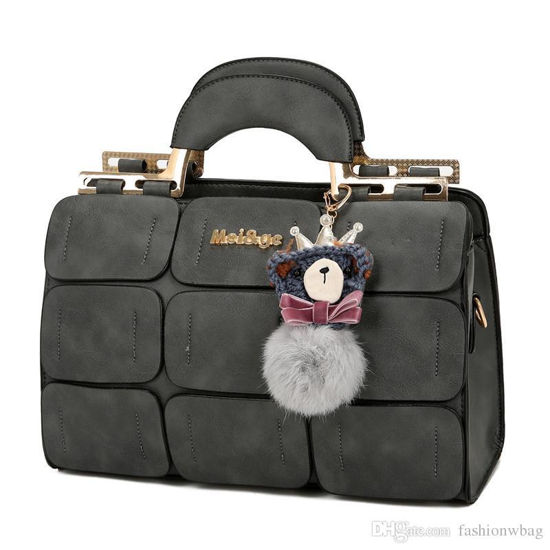 a4a1cafe03 New Female Tide Palace Shoulder Bag Sewing Thread Boston Bag Hair Ball  Portable Messenger Bag Relic Purses Fashion Bags From Fashionwbag