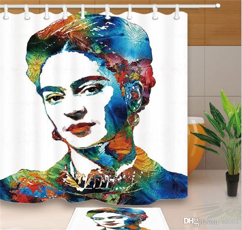 2019 Frida Kahlo Shower Curtain Popular Practical Wonderful 3D Digital Home Decoration Printing Bathroom Accessories With Hook Removable 33mb3 Dd From Sd003