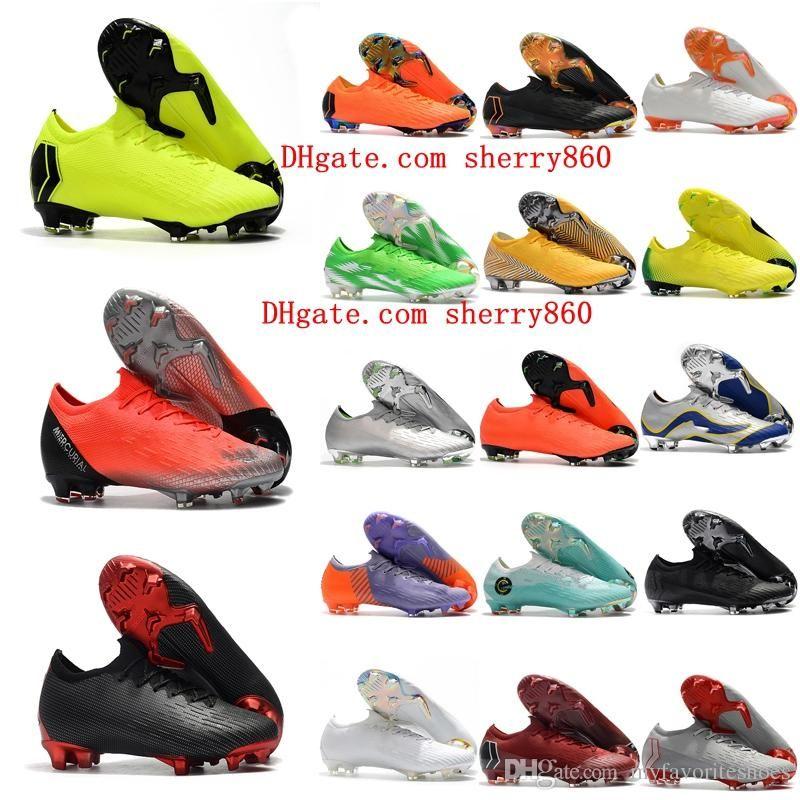 c0828e4b9 2018 Mens Soccer Cleats Mercurial Vapor VII XII Elite FG SE CR7 Soccer Shoes  Neymar Football Boots Mercurial Superfly Scarpe Da Calcio Hot Leather Shoe  Sale ...