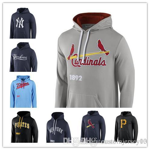 low priced 36a24 6f8df Men's Padres Yankees Twins Pirates Cardinals Red Logo Performance Pullover  Hoodie Jackets Sweatshirt