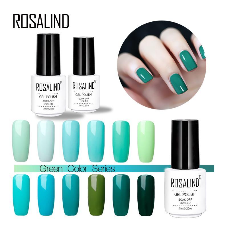 Rosalind Gel 1S 7ML Nail Gel Polish Mint Green Series Primer Soak ...