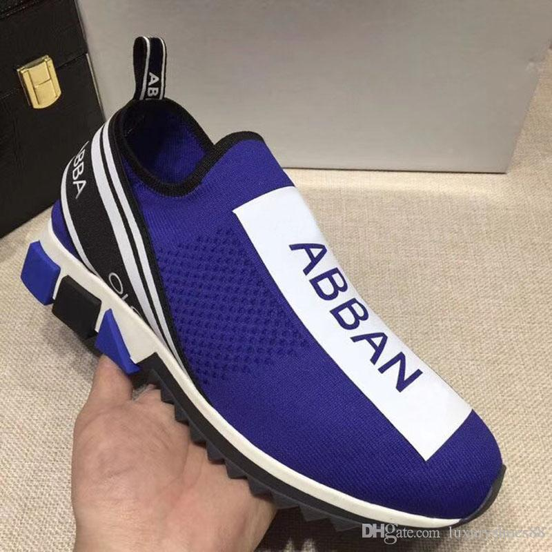 fd1d171424 Compre Mens Tenis Juvenil Zapatos Moda Diseñador De Lujo 2018 Nuevas Letras  De Punto Para Hombre De Baloncesto Casual Correr Calzado Deportivo Zapatos  De ...