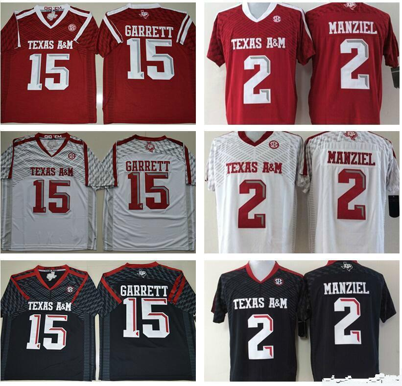best service 1798f 1bc36 Texas AM Aggies 15 Myles Garrett Jersey 2 Johnny Manziel Jerseys 9 Ricky  Seals Jones 40 Von Miller Red Black White Men NCAA Football Jerseys