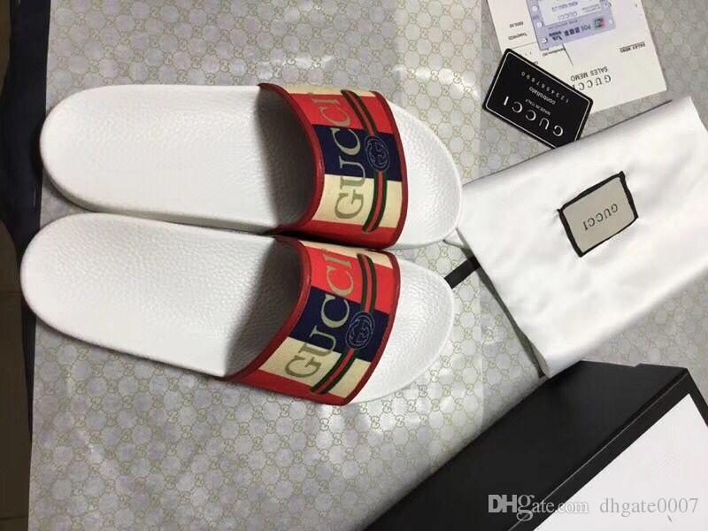 0bd0b8b8a55877 Fashion Striped Print Rubber Slide Sandals Mens Slippers Mens Summer  Outdoor Beach Flip Flops Lady Sandal Online with  59.89 Piece on  Dhgate0007 s Store ...