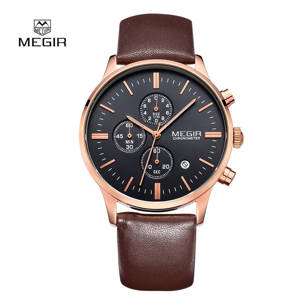 7b81144384b52 2017 Fashion Luxury Men Watch Megir Quartz Watches Casual Sport Wristwatch  Chronograph Waterproof Relogio Masculino 2011 Watches For Sale Wrist Watches  From ...