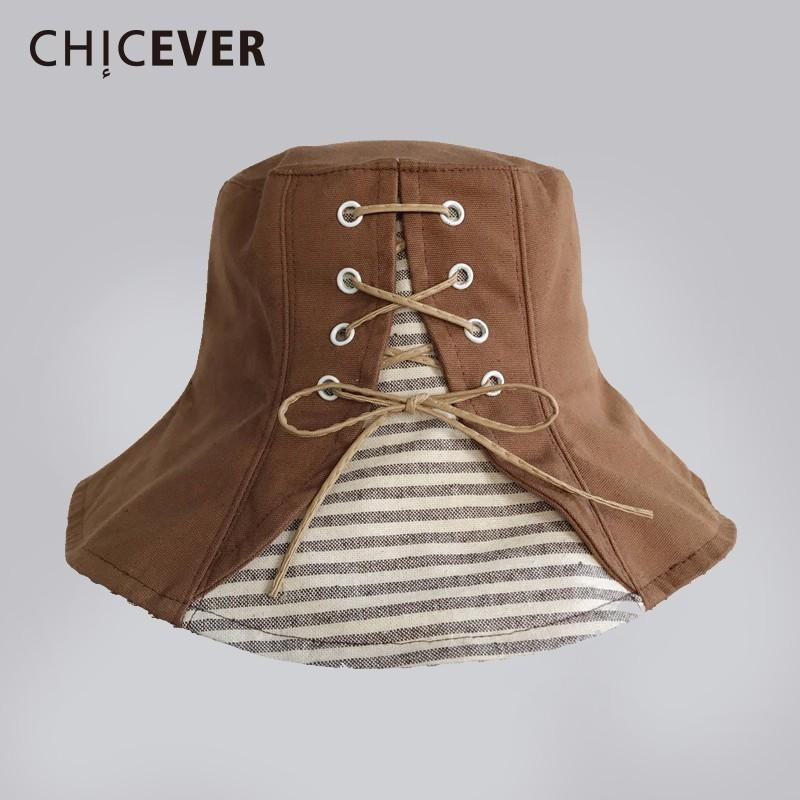 8841d0d8 CHICEVER Spring Bandage Hats For Women Striped Done Casual Patchwork ...