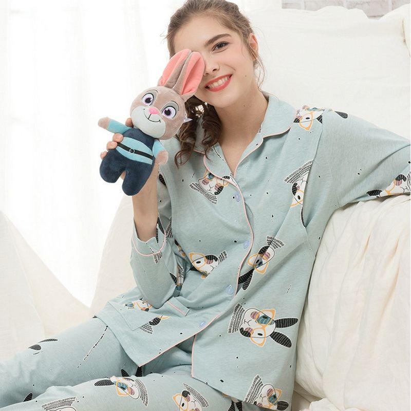 6ff31f88c08 2019 Maternity Sleepwear Nursing Pajamas Spring Autum New Cartoon Fashion  Cotton Night Wear Winter Breastfeeding Pregnant Pyjama A298 From Beasy