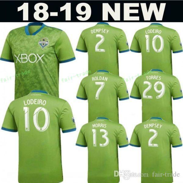 more photos 3100d 0ee10 FC MLS Seattle Sounders Soccer Jersey 2019 Men 7 ROLDAN 10 LODEIRO 9  RUIDIAZ 14 MARSHALL 24 FREI Goalkeeper Football Shirt Kit Uniform
