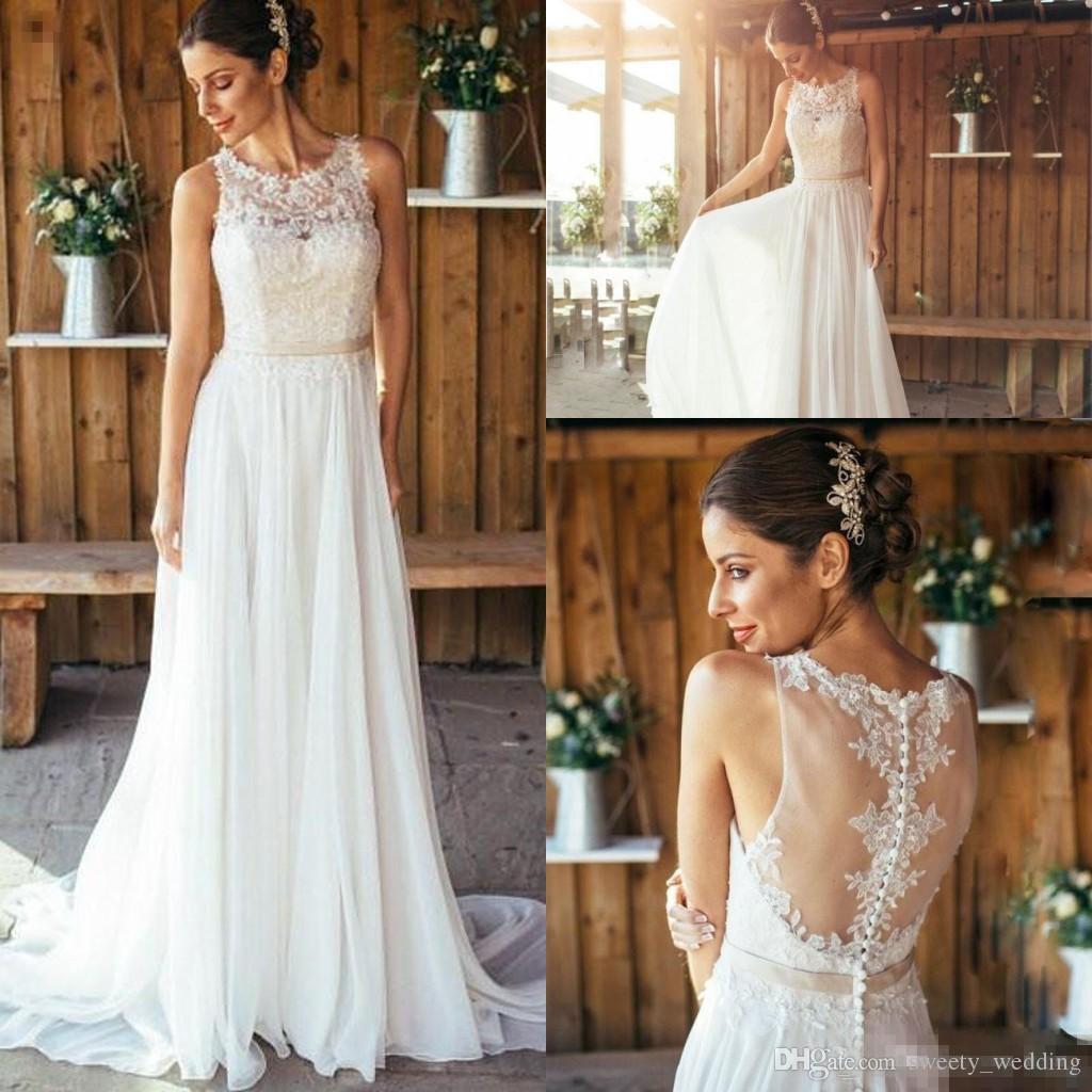 Wunderbar Flowy Chiffon Brautkleider Galerie - Hochzeit Kleid Stile ...