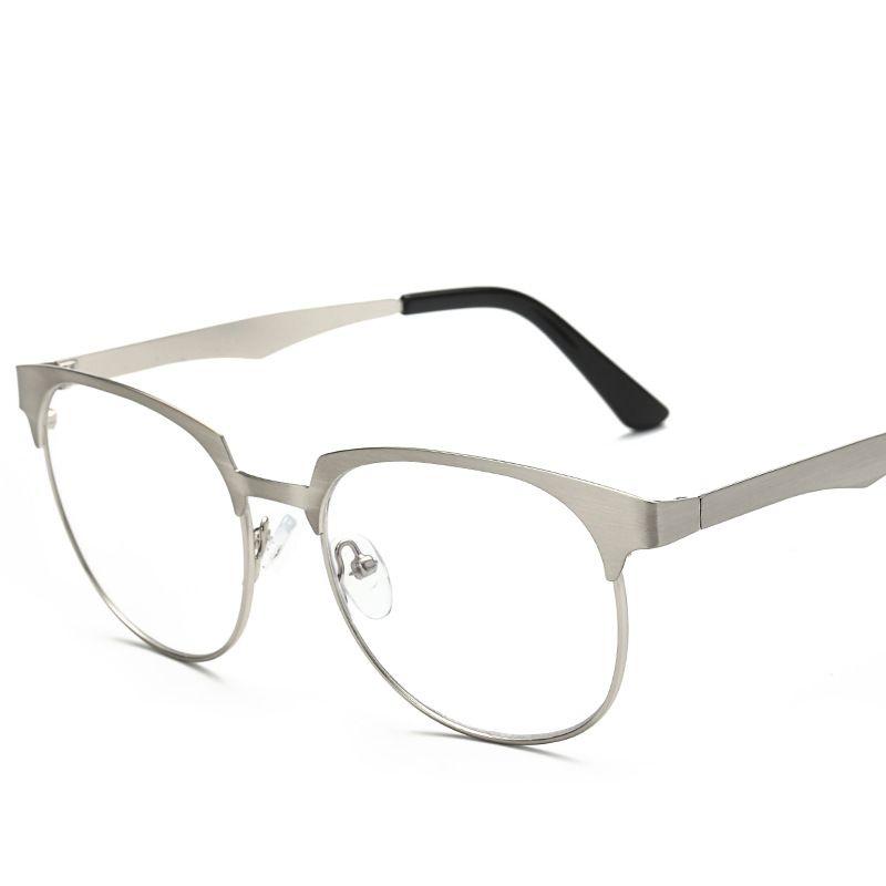5a37d1d529 KESMALL 2018 New Metal Optical Glasses Frame Women Men Myopia ...