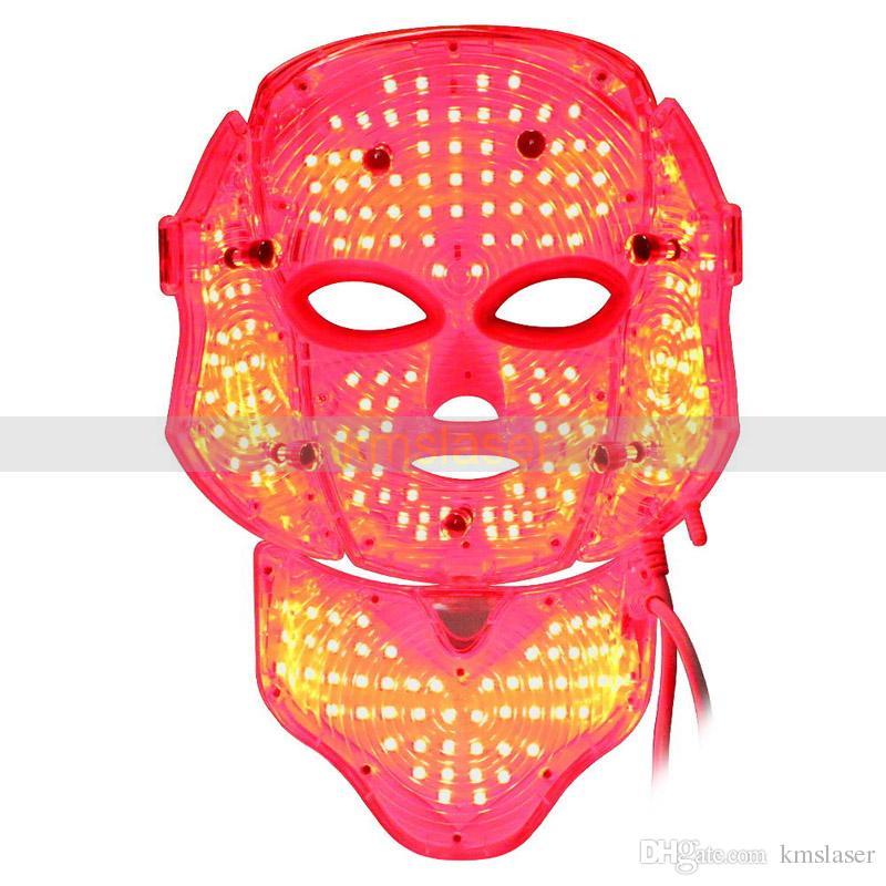 Rouge bleu led lumière masque peau rajeunissement peau serrant enlèvement acné spa maison salon utilisation machine