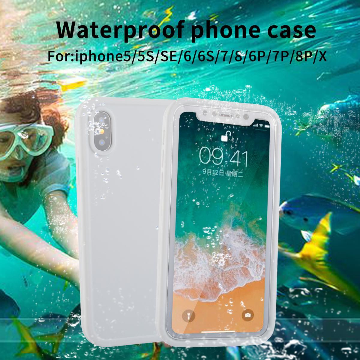 ff3bee486ee Protectores De Celulares IP68 Real Caja Del Teléfono Impermeable Para  IPhone X 8 7 Plus 6 6S Plus Cubierta De Protección Completa En Caso De Agua  Para El ...