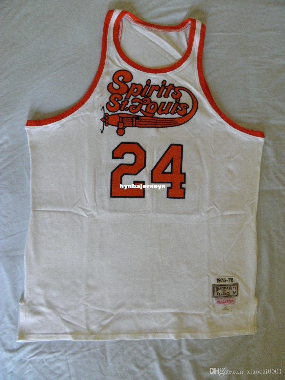 2ad3bece375 Mitchell Ness M N  24 Marvin Barnes Spirits of St Louis Top Jersey ...