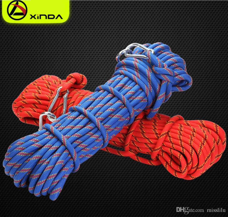 Professional Rock Climbing Rope Outdoor Hiking Accessories 10mm Diameter 3KN High Strength Cord Safety Rope