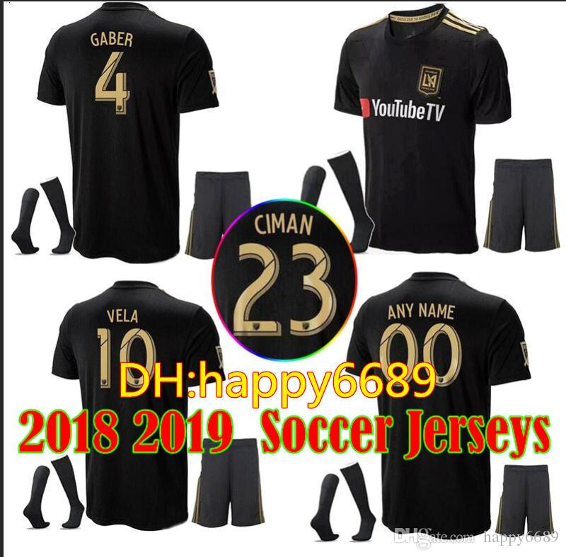 2019 NEW Arrived 2018 Adult Kit LAFC Carlos Vela Soccer Jerseys 18 19 Home  GABER ROSSI CIMAN ZIMMERMAN Home Away Football Shirt Los Angeles Fc From ... aad9216a4