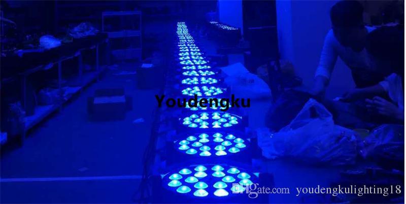 4 peças led par luz do estágio x 18 w led par zoom par led rgbwa uv zoom