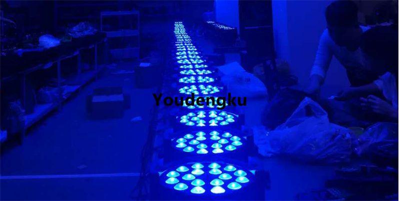 4 pezzi led par stage light x 18w led par par par zoom led rgbwa zoom uv