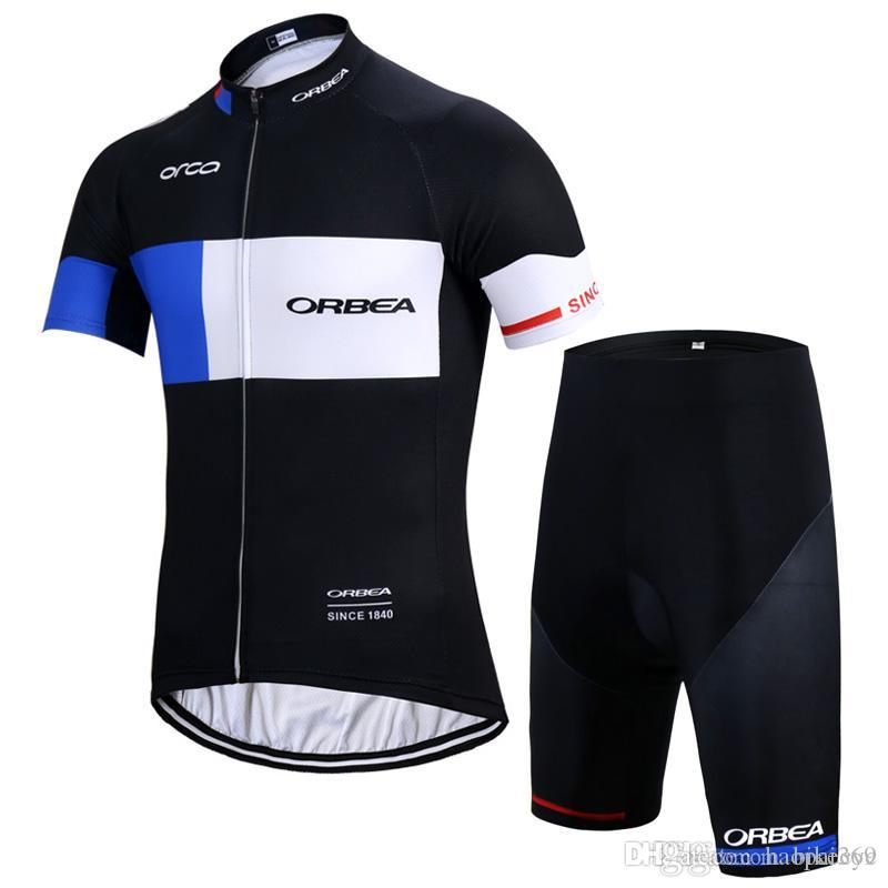 ORBEA Team Cycling Short Sleeves Jersey Bib Shorts Sets Mens New Summer  Racing Mountain Bike Quick Dry Gel Pad Ropa Ciclismo C1713 ORBEA Cycling  Jersey ... 1f57fb7e2