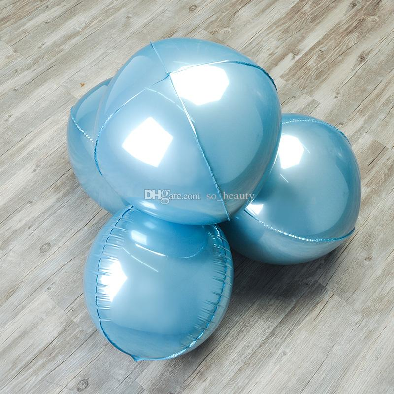 4D círculo folha balões de alumínio 22 polegadas casamento aniversário aniversário decoração decoração balão rosa azul ouro prata escolha cor