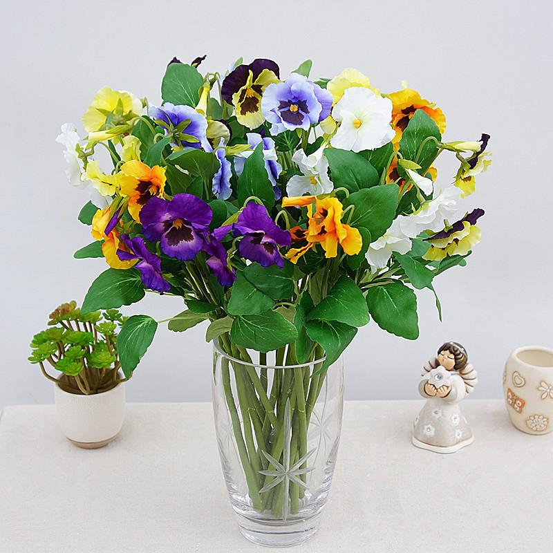 2018 artificial pansy silk flowers moth phalaenopsis orchid artificial pansy silk flowers moth phalaenopsis orchid arrangement for home office wedding decoration artificial flores mightylinksfo