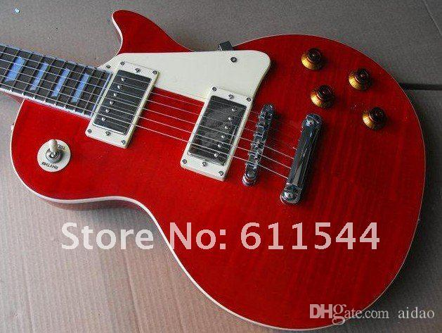 High Quality New Arrival Red Custom Solid Electric Guitar Mahogany Top Musical instruments