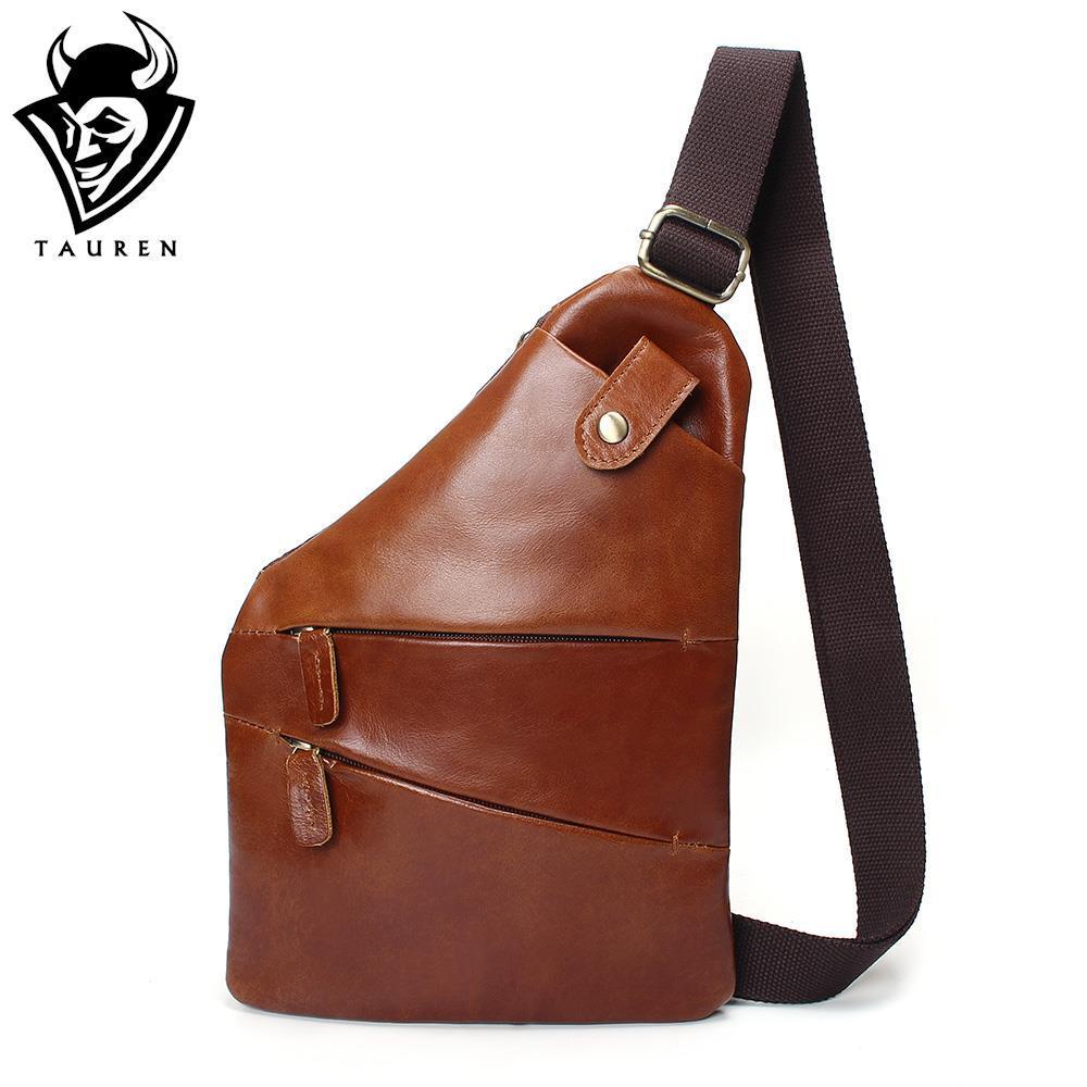 Men Genuine Leather Sling Casual Bag Messenger Anti Theft Oblique ... d2e67860dab48