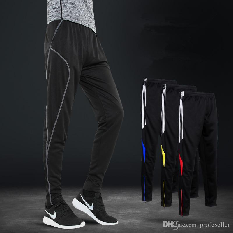 Jogging Football Jambe Zip Pocket Homme Formation Courir Sport Pantalon Cyclisme De On80kwP