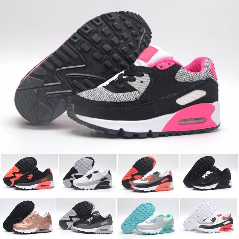 30b795bc775 Compre Nike Air Max 90 Crianças Sapatilhas Presto 90 Ii Sapato Crianças  Esportes Ortopédicos Juventude Crianças Formadores Meninos Meninas Meninos  Correndo ...