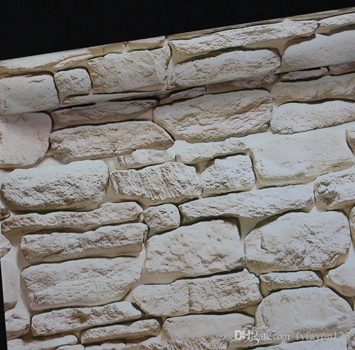 2018 19 Vintage styles 3D photo wallpaper brick tape plastic wallpaper wall stickers living room bedroom wallpaper student a143
