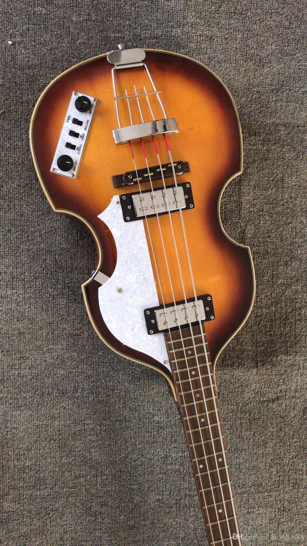 Toptan Yeni 4 Dize Bas Gitar CT Çağdaş 500/1 Sunburst Keman Bas Gitar Üst Kalite