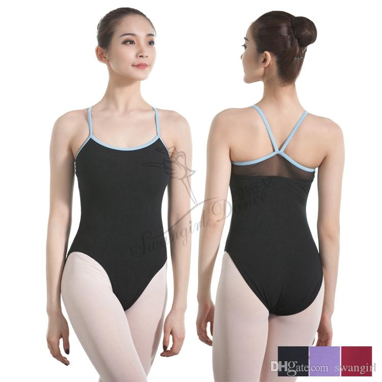 22f204ee9c62 2019 Black Ballet Leotard For Girls Adulto Gymnastics Dance Leotards ...