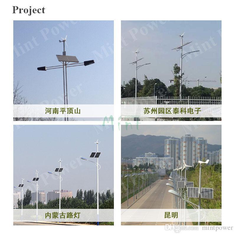Wind Turbine Generator 100W CE Aluminum alloy turbine shell 5 blades 12/24V AC wind turbine