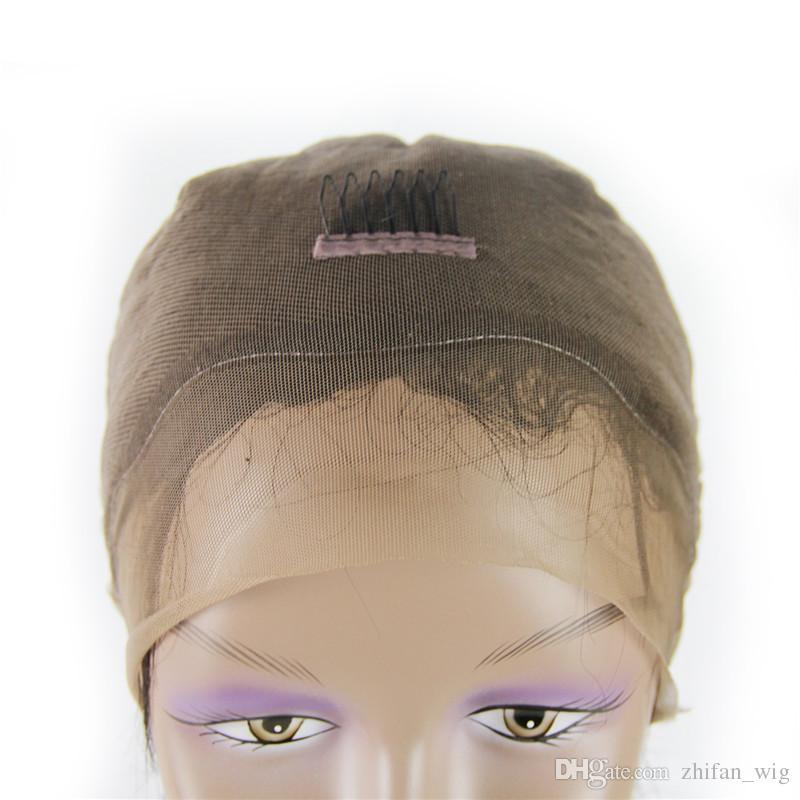 Zhifan parrucche 100% capelli ricci brazlian umani le donne bianche morbide naturali colore brazlian naturale mano gancio fatto a mano